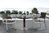 High qulity rattan chair brushed alumiunm garden furniture make in China