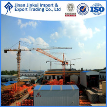 Luffing QTZ80(6010) moving tower crane price by JINKUI in China
