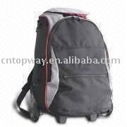 50 x 39 x 20cm Trolley School bag/Backpack with Zipper, Made of Crinkle Nylon