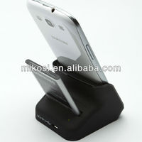 White/black Dual Desktop Cradle Docking Station for GT-9300 Galaxy S3 with AC Charger and USB Cable