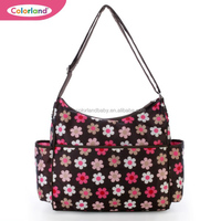Emily Red Linen Hobo Baby Changing Bag