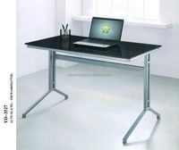 simple style hot sell long black computer desk, writing desk