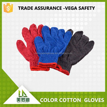 2015 hot sale cheap red/blue/brown 10 gauge colorful cotton gloves