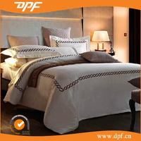 Professional Factory Sale Cotton Plain Jacquard hotel design bedding set