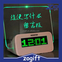 ZOGIFT flashing led erasable message board displays alarm clock with phone charger
