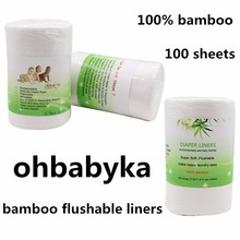 Ohbabyka bamboo flushable liners