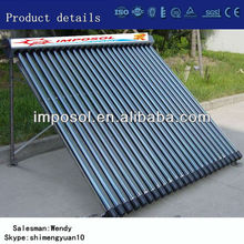 30 Tubes Vacuum Tube Heat Pipe Solar Collector for Solar Thermal Project and Hot Water Heating System
