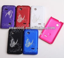 Butterfly Rubber Hard Case for For Sony Xperia TIPO ST21i
