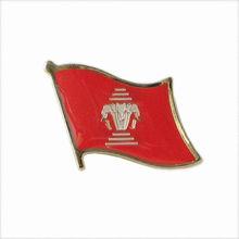 De metal exclusivos personalizados insignia de la fabricación de pernos de la solapa- laos pin de la bandera