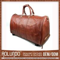 2015 Hottest Custom-Made Leather Laptop Trolley Bags