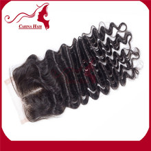Carina Hair Products Dyeable and Bleachable Deep Wave 4X4 Silk Based Lace Closure European Remy Hair