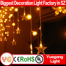 CE ROHS approved 220V 3*1m 6*3m laser light curtain multi-color led curtain light led light stage curtain warranty 2 years