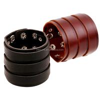 New Fashion bracelet punk wide cow black/ Brown leather bracelet charm Bangle