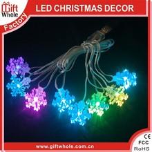 Wholesale cheap hanging christmas plastic glitter snowflake