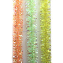 hot sell christmas railing decorations popular christmas wired tinsel garland
