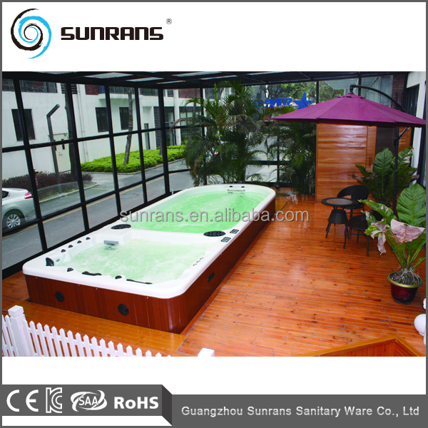 Above Ground Used Plastic Metal Frame Freestanding Swimming Pool Hot Tub Combo Rectangular Above