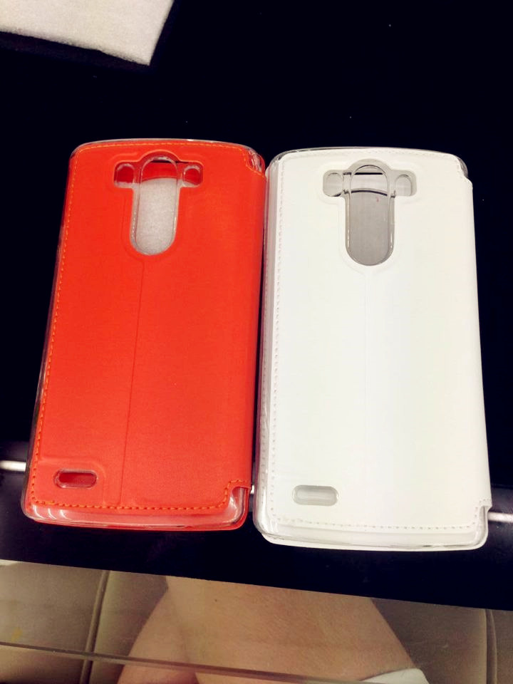 2014 New Genuine Leather Clamshell Fashion Cell phone case Mobile Phone Case for LG G3