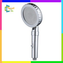 C-255K PC raw materials chrome big with switch hand shower