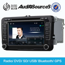 AS-610 audiosources octavia 7 inch gps dvd player for Volkswagen,Skoda support 3G,HD1080 video,lossless music and canbus