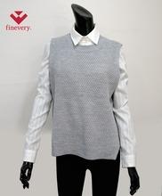 Fineveryผู้หญิงพื้นฐานถักเสื้อกั๊กเสื้อด้วยการเชื่อมโยงการเชื่อมโยง- โครงสร้างที่เรียบง่ายและ/ออกแบบคลาสสิก