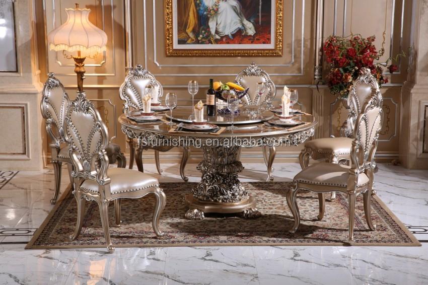 a123l-3 luxus französisch neoklassischen holz carving runde, Esstisch ideennn