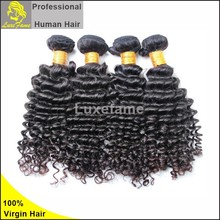 2015 cheapest 6a grade Double drawn natural balck 2015 wholesale 100% unprocessed virgin peruvian deep wave hair kbl product