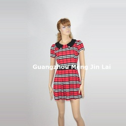 2014 new fashion designer one piece summer dress with pattern