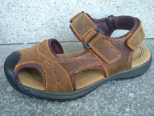 2015 high quality leather baotou rubber soles sandals chappals