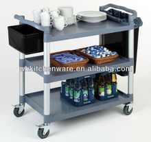 2/3 tier L/S Restaurant And Hotel utility cart hand pull trolley