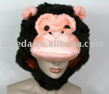 Kids Halloween Gorilla King Kong Party Warm Costume Hat Mask Cap