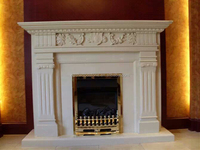 natural freestanding gas fireplace mantel,china marble fireplace