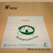 compostable and biodegradable die cut shopping bags die cut bags vest bags