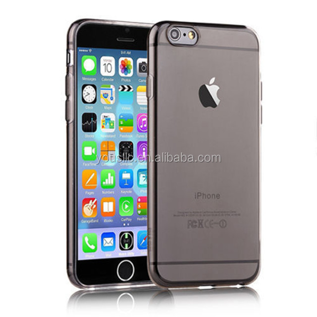 high quality crystal clear transparent soft silicon tpu Case for Iphone 6 plus