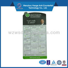 2016 High quality advertising paper calendar fridge magnet