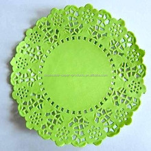 pretty vintage style Pack of 20 Apple Green Lace Embossed Paper Doilies (11.4cm)