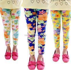 New Style Classical Geo Custom Printed Pattern Sweet Lovely Kids Girls Leggings