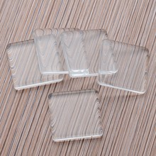 2013-2014 new style rectangle Various colours Flat Back clear faceted glass cabochon jewelry