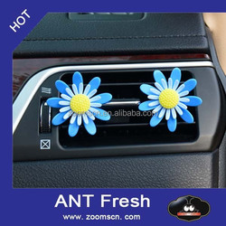 plastic flower car vent clipps car air freshener