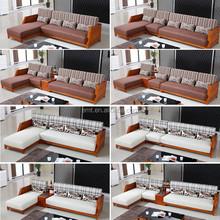 Solid wood L shape fabric Coner sofa 2015 latest sofa design living room sofa ( EMT-14 )