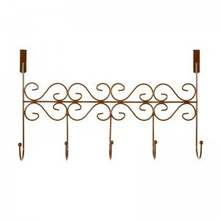 Traceless wrought iron backdoor hook rack S shape 5 hooks for wholesale