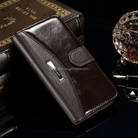 Fashion style genuine wallet leather case for Samsung galaxy S6