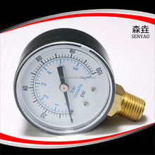 abs plastic case bourdon tube pressure gauge
