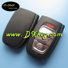 High quality 3+1 button smart key cover for audi smart key audi plastic key key shell with panic button original one