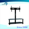 2015 hot sale stainless steel and glass tv stand A901