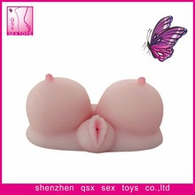 Full size real lifelike silicone torso products with big realistic breast vagina anus sex doll for men