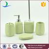Green glaze unique design bathroom accessories wholeasale