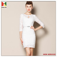 New fashion women's slim fit lace dress ladies elegant lace evening dress sexy party dress