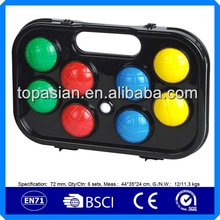 Plastic lawn bocce ball sets /petanque sets for outdoor