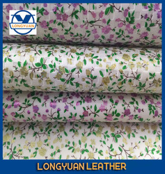 china embossed flower pattern and pu paint leather for shoes