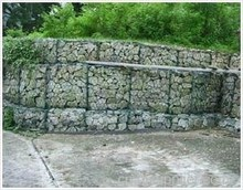 hexagonal GABION galvanized iron wire mesh filled with stone to protect river bank and flood control guide